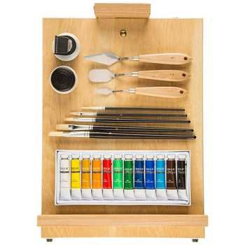 Easel Box Acrylic Paint Set