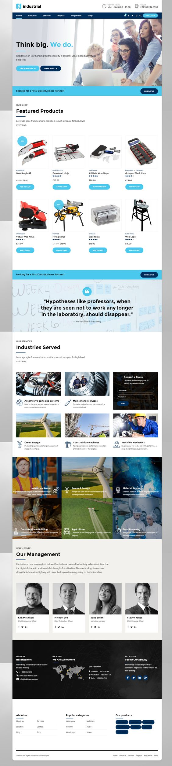 Industrial is a WordPress theme exclusively built for manufacture ...
