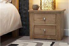 Torino 2 Drawer Narrow Bedside Cabinet