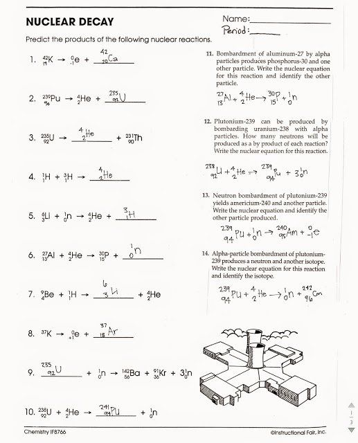 Nuclear Decay Worksheet Answers Key Beautiful Tom Schoderbek