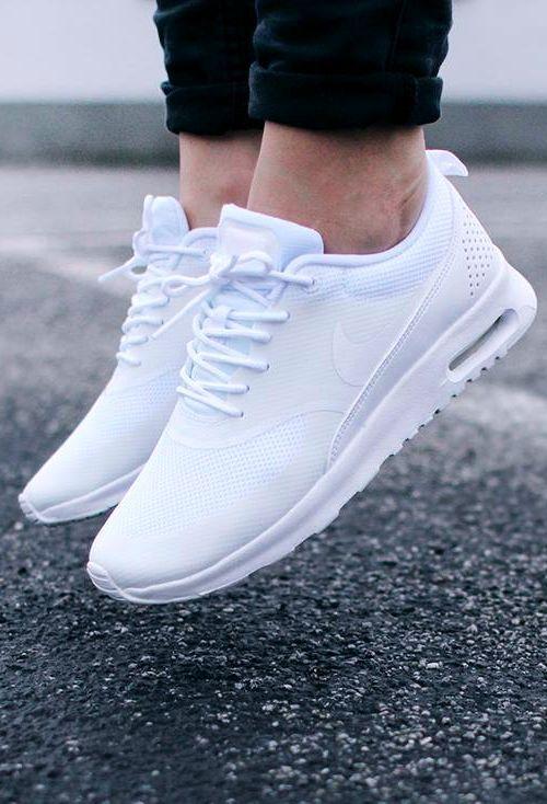 Wmns Nike Air Max Thea Triple White NSW Womens Running Shoes