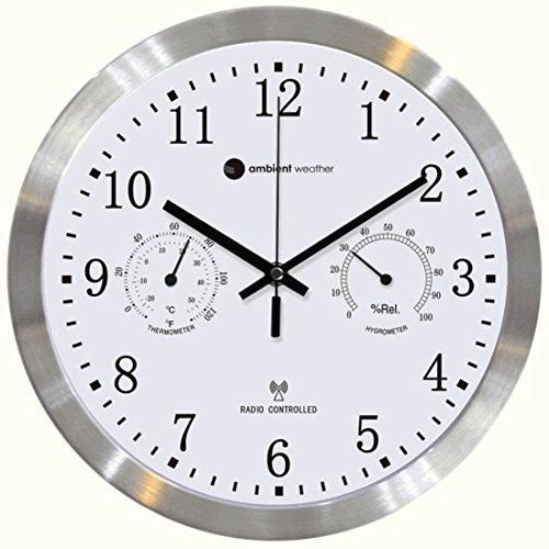 The Ambient Weather 12 Luminous Glow In The Dark Atomic Radio Controlled Wall Clock Turns An Ordinary Wall Clock Into An Ex Atomic Wall Clock Wall Clock Clock