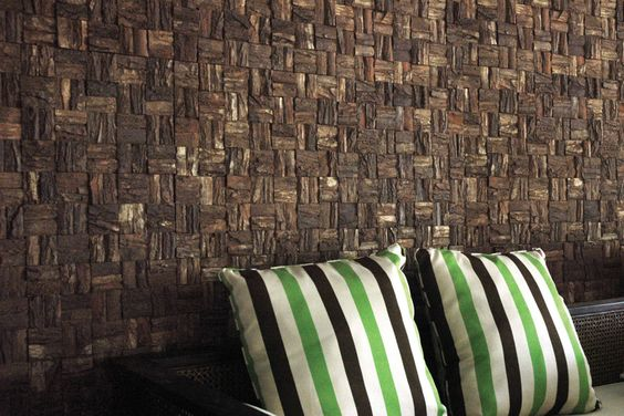 Cocomosaic Bark wall covering