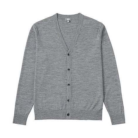 This premium knit cardigan is made from 100% top quality extra fine Merino wool. Extremely thin 19.5 micron fibers allow an incredibly fine knit, creating an exceptionally soft, smooth feel and elegant, glossy texture. This season's version has a slightly shallower neckline for a sleeker, more compact silhouette. The delicate knit is accented by elegant buttons to create a versatile, stylish look that goes with anything from a t-shirt to a button-up dress shirt. It is machine-washable.
