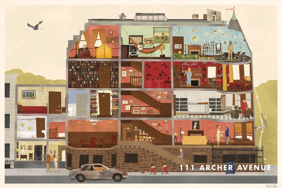 #RoyalTenenbaum House, 111 Archer Avenue by Max Dalton