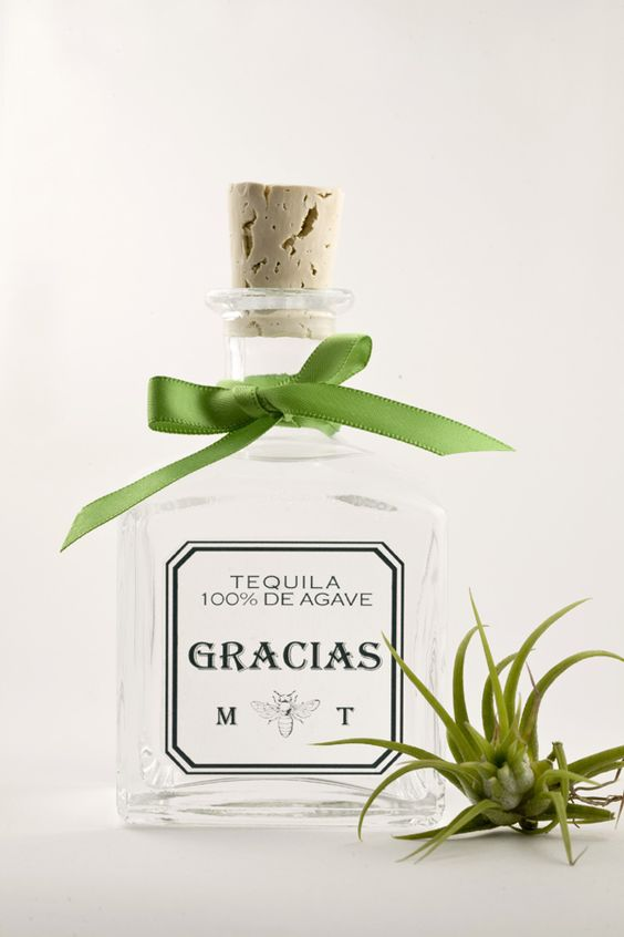 DIY Mexican Wedding Favors :) website: where to buy bottles and download labels. Tequila or agave syrup