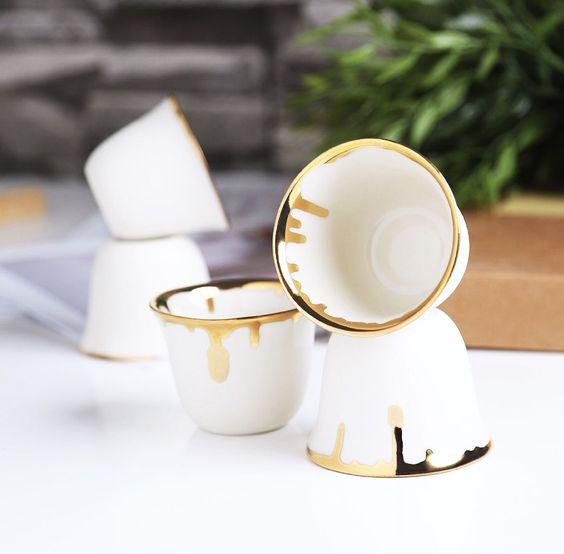 طقم فناجين قهوة عربية Coffee Time Coffee Egg Cup Tableware