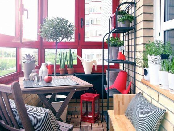 Cooler kleiner Balkon - 40 kreative und praktische Ideen - kleine ...