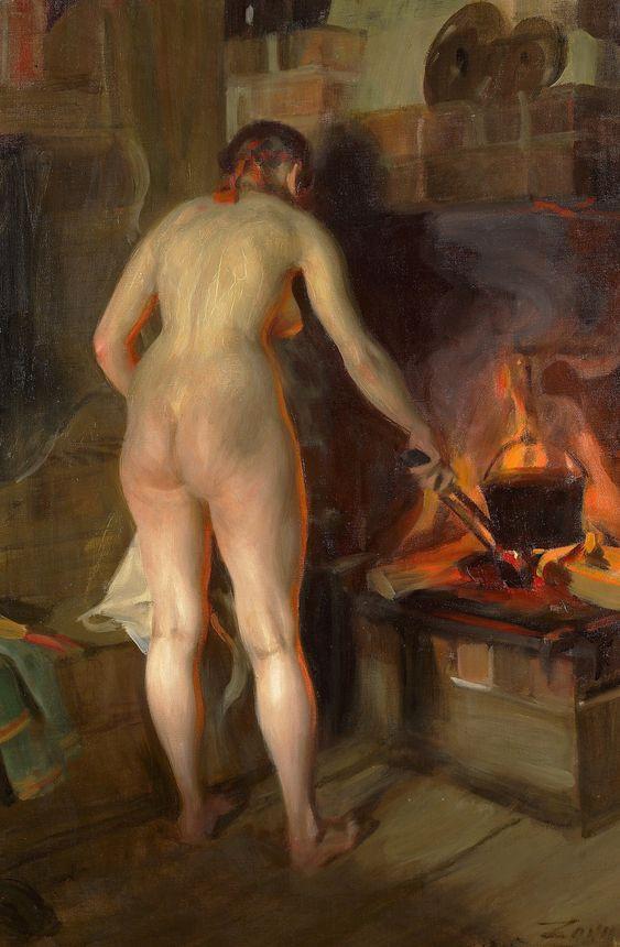 Anders Zorn - Potatiskitteln, 1915