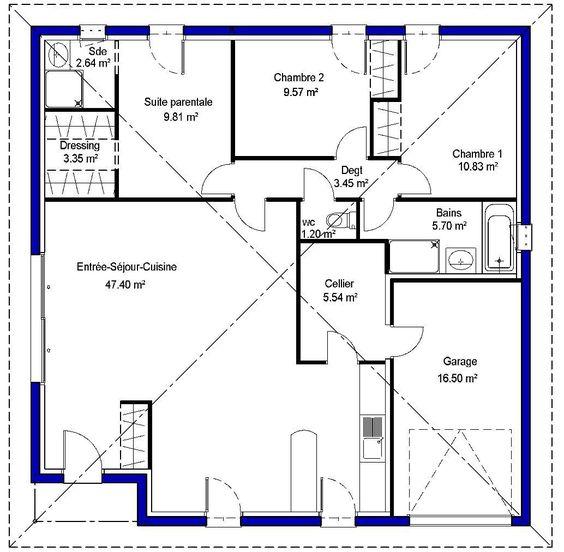 Modèle de maison Adela proposé par Maisons LARA. Retrouvez tous les types de maison à vendre en France sur www.construiresamaison.com >>>