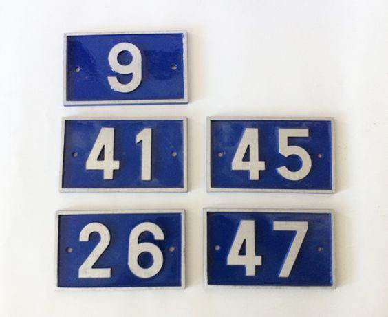 Vintage french house number by altmeansold on Etsy, €15.00