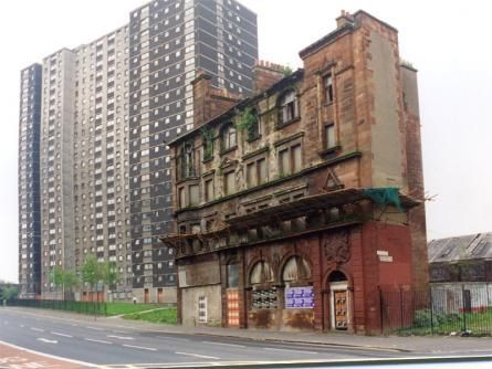 The Gorbals - Glasgow ... So they demolished all the filthy tenement slums and look ! ... They built these beautiful award winning prisons, oops, I mean flats in their place ! Shame on you Glasgow planners,  you ripped the heart out of my city !!!