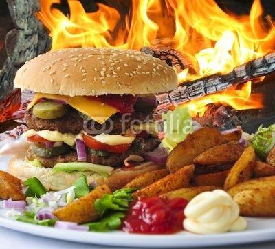 Hamburger, Fastfood
