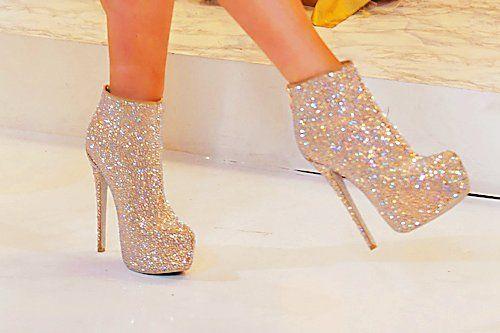Glittery Gold Heels