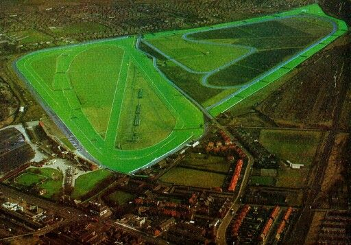 1970s View of Aintree Racecourse.