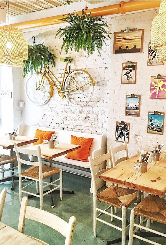 Home Decoration With Paper Flowers Traveleuropeessentials Cafe Interior Cafe Interior Design Coffee Shops Interior