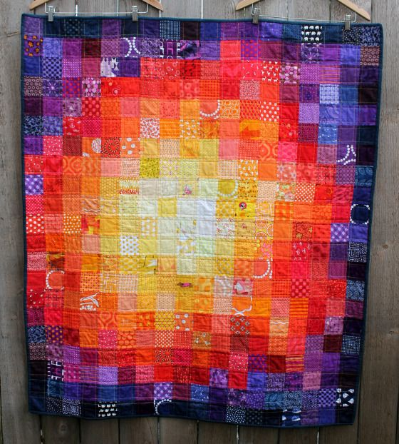 Sunburnt Country - modern baby quilt - Wombat quilts