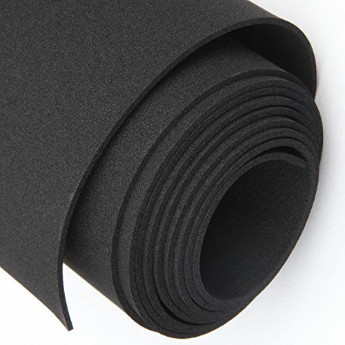 Magzo Rubber Padding Foam Roll 1 16 Thick X 12 Wide X 4 9 Feet Long Non Adhesive Insulation Rubber Sheet Neoprene Insu Carpet Padding Foam Insulation Sheets