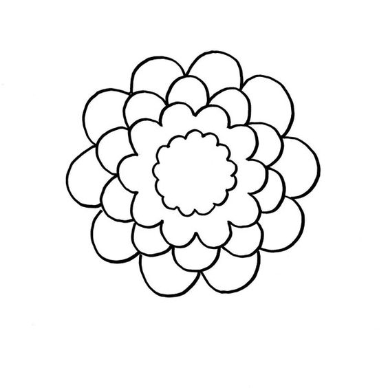 Simple Flower | To trace | Pinterest | Simple Flowers ...