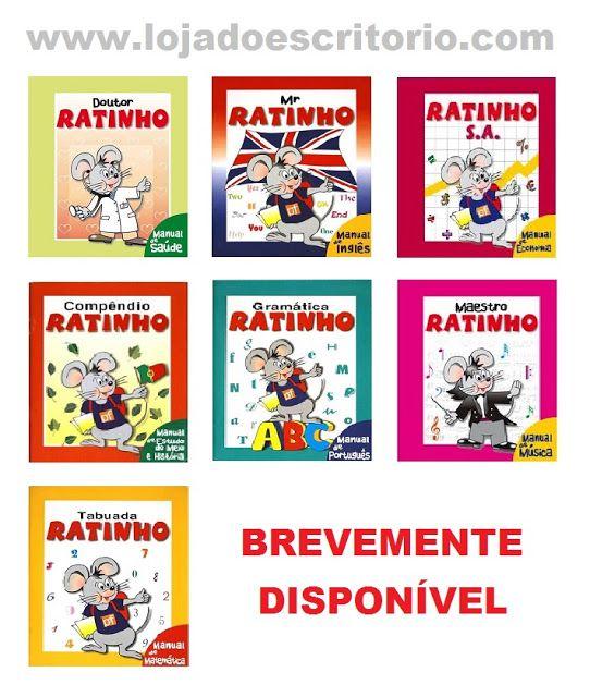 É uma novidade para este ano de 2016, brevemente teremos disponível na nossa loja online os livros do professor Ratinho.  Visite-nos em www.lojadoescritorio.com ou www.facebook.com/lojadoescritorio.
