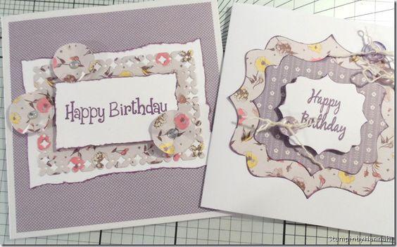 Happy Birthday, birthday cards, Stampinbyhannah.co.uk