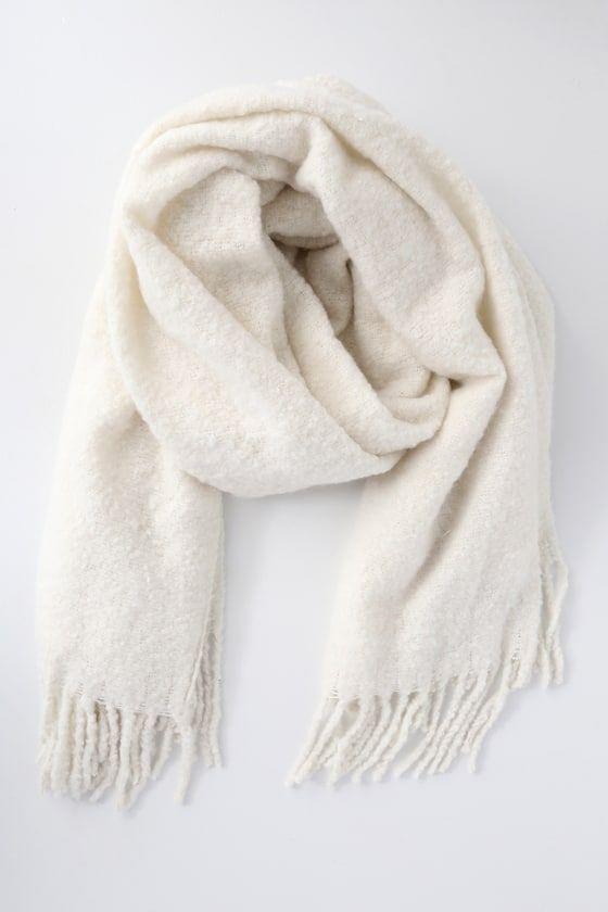 White winter scarf