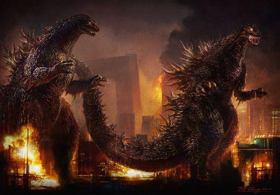 Two Godzillas - Godzilla 2014 Gallery