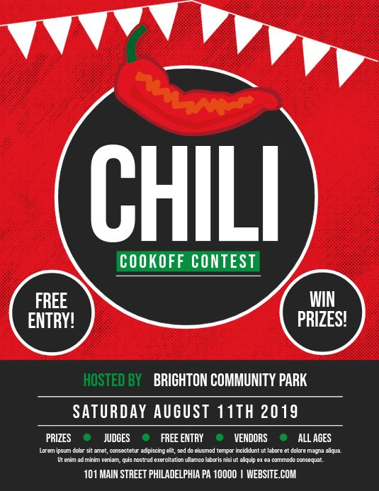 Pin By Postermywall On Chili Cook Off Poster Templates Chili Cook Off Cook Off Contest Poster