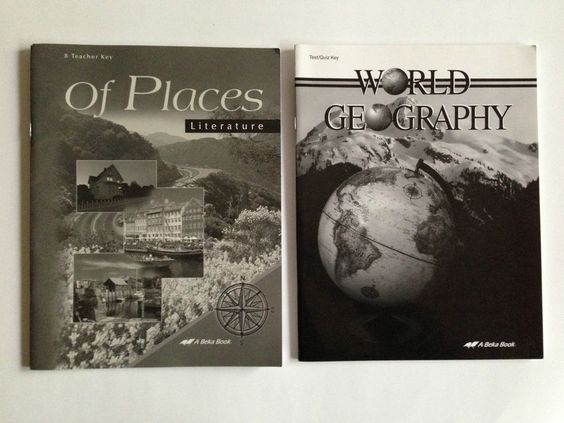 A Beka Book World Geography and Literature Home School #WorkbookStudyGuide