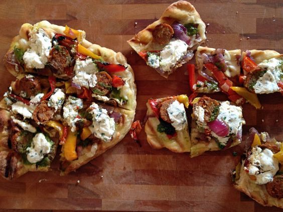 The New Girl's foray into the delicious land of grilled pizza.