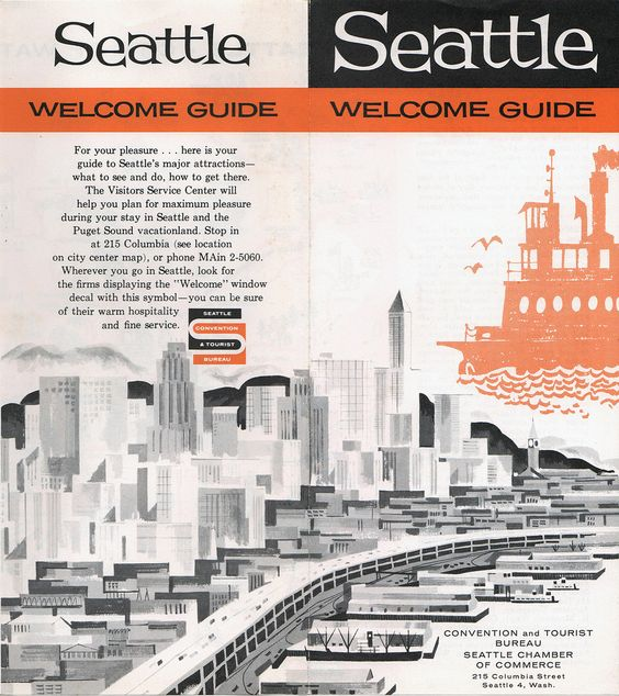 Mid-Century 1959 Seattle Welcome Guide