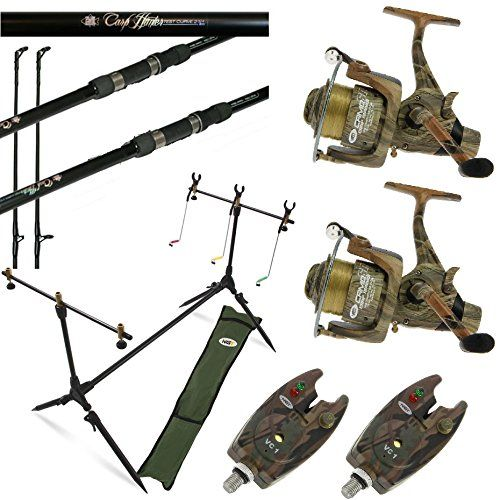 Camo Carp Fishing Set Up 2 X 12ft Carp Rods 2 X Carp Reels 2 X Alarms Pod Camo Colour Carp Set Up 2 X 12ft Carp Rods 2 X C Carp Rods Carp Fishing Rods
