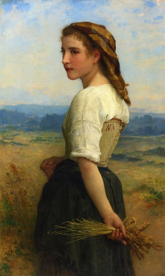 post-impressionisms:  Gleaners, William-Adolphe Bouguereau. 1894.