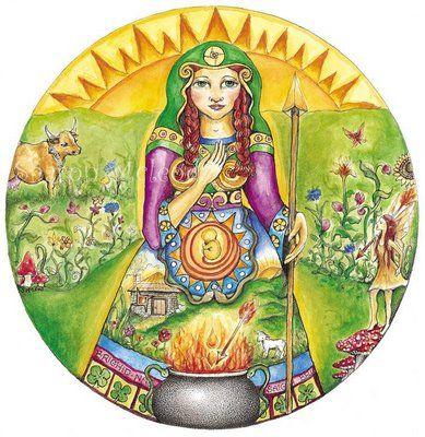 Diosa Brigit,antigua doncella que renace vestida de blanco y oro,escuchame. Tu sagrada luz que toda salud restablece, de tí todas las bendiciones dulcemente vierte. Que tu inspiración me en…