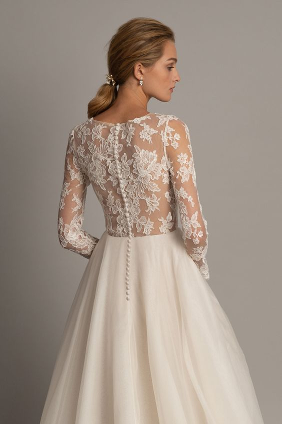 Jenny Yoo Valentina Miss Ruby In 2020 Long Sleeve Wedding Gowns Ball Gown Wedding Dress Bridal Dresses