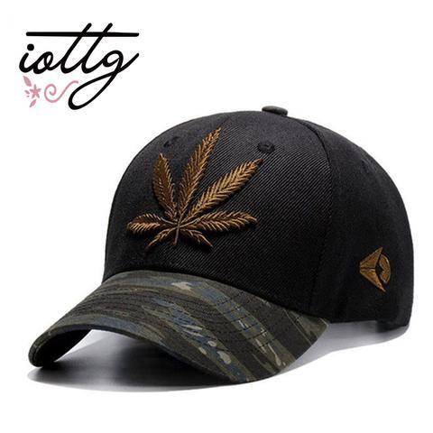 Men Women Weed Leaf Embroidery Baseball Cap Hip Hop Hat Adjustable Snapback UK