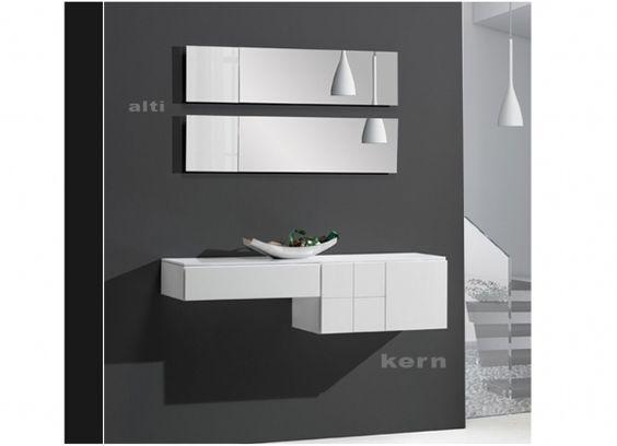 Recibidor kern 39  mueble entrada blanco  Ideas para el hogar