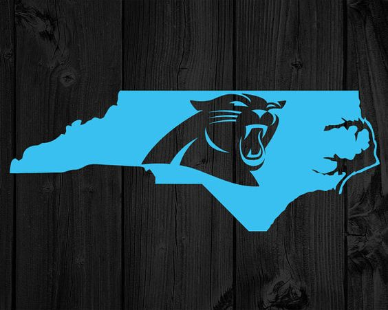 2 Carolina Panthers Decals North Carolina State by vectorsvgs