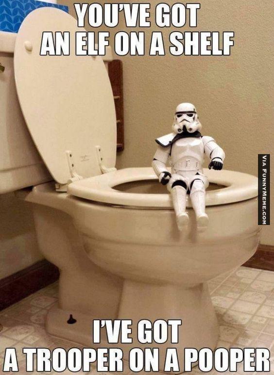Funny memes Trooper on a pooper...