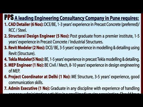 Walk In Interview Construction Jobs Youtube Engineering Jobs Job Structural Design Engineer