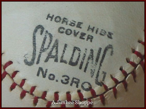 SPALDING 1915 Professional Baseball Horse Hide Number 3RC Rubber Center Junk 984  http://ajunkeeshoppe.blogspot.com/
