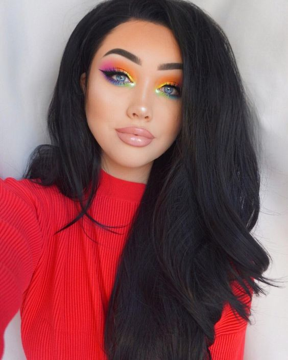 "35.3k Likes, 950 Comments - G i n a B o x ♡ (@ohmygeeee) on Instagram: ""I can see a rainbow Who wants a tutorial on this? . Brows- @anastasiabeverlyhills @norvina…"""