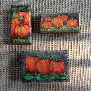 Images of painted bricks--this inspires me with all kinds of ideas!