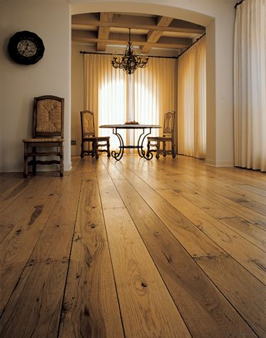 Again, we love the knots.    Hickory floors