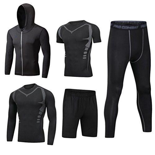 Hommes Running Sports T-shirt de compression à manches courtes Tops Gym Vêtements