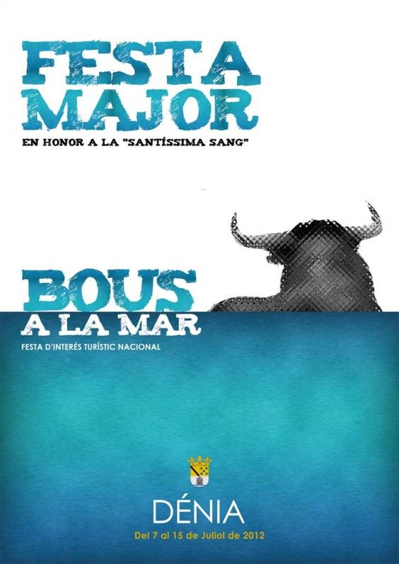 Cartel Fiesta Mayor de Dénia 2012: