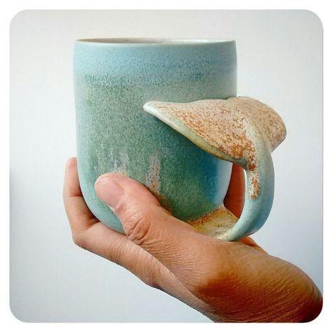Whale Mug (Annick Galimont) http://annickgalimont.wix.com/ceramics#!shop/c11dz/!/Whale-Mug/p/57735200/