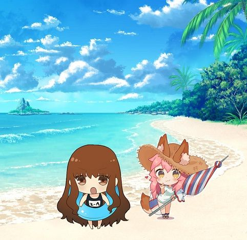 Chibi At The Beach Fate Stay Night Crossover Chibi Humans Series Naruto + fate/stay night crossover. fate stay night crossover