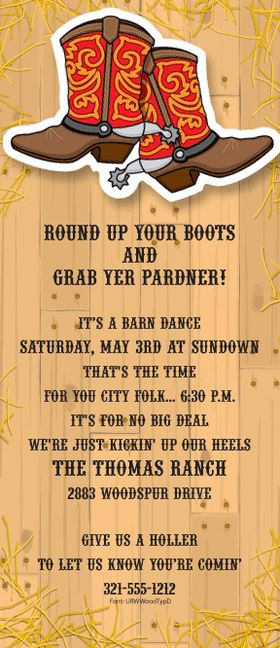 Girl Scout Barn Dance   Cub Scout Theme - Head West, Young ...
