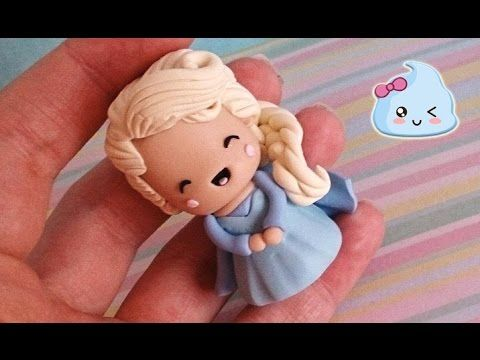 Tutorial 1 DE 2 Elsa Frozen Pastel porcelana fria/ Cold porcelain - YouTube